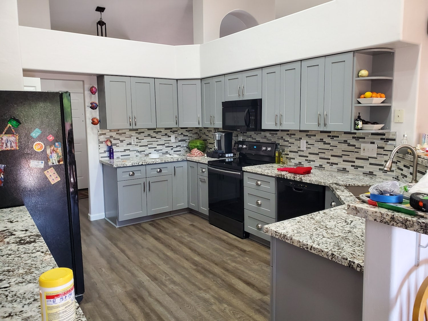 An example of major home renovations in the kitchen area